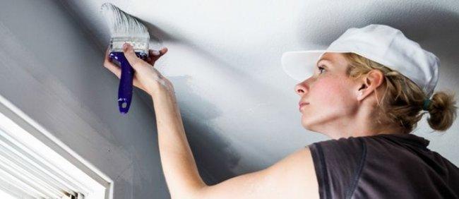 Кілька порад, як побілити стелю на кухні власноруч