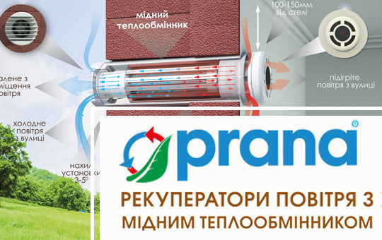Найкраще рішення – рекуператор PRANA