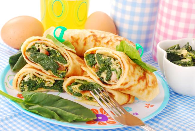 Начинка для млинців з яйцем і зеленню